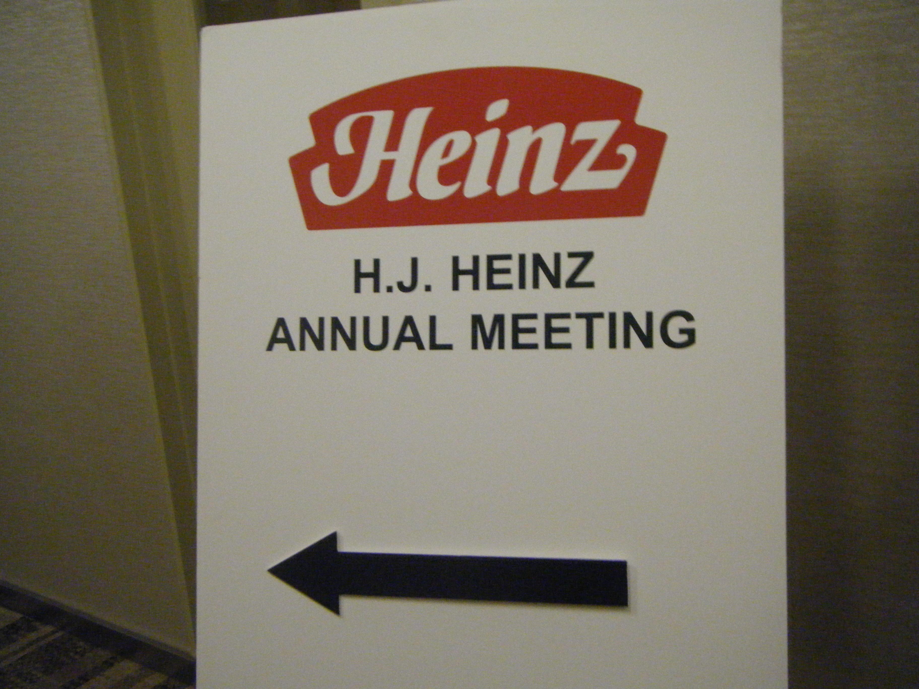 記事:株主総会レポート アメリカ編 H.J. Heinz Companyのイメージ画像